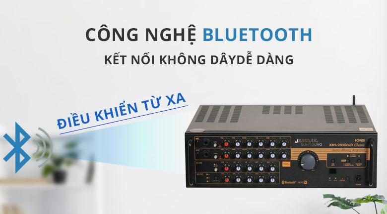 Amply Jarguar Suhyoung KMS-203 Gold Classic | Kết nối bluetooth điều khiển từ xa