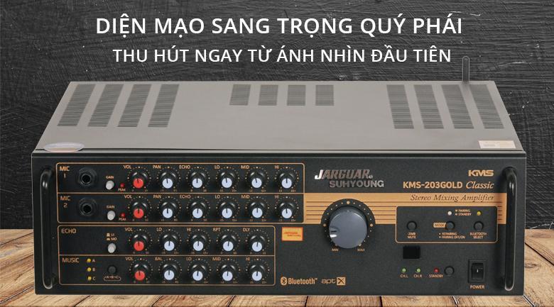 Amply Jarguar Suhyoung KMS-203 Gold Classic | Sang trọng quý phái