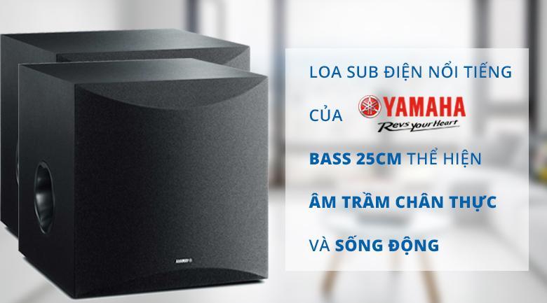 Loa Yamaha NS-SW100 Black | Loa siêu trâm có chất âm chân thực sống động