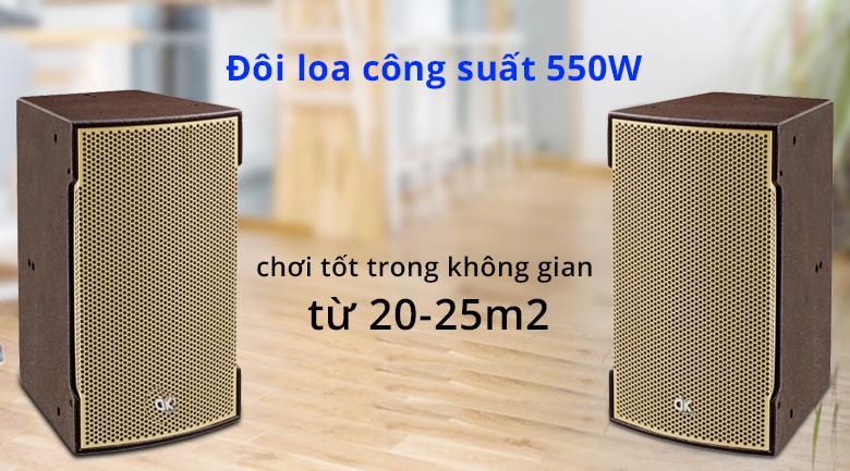 Loa DK VR 12 | Công suất 550W chơi tốt trong không gian 25m2