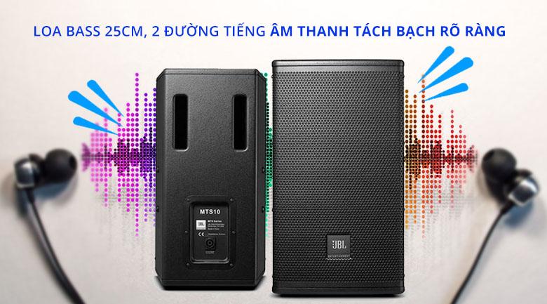 Loa karaoke JBL MTS10 | Loa bass 25cm, 2 đường tiếng tách bạch rõ ràng
