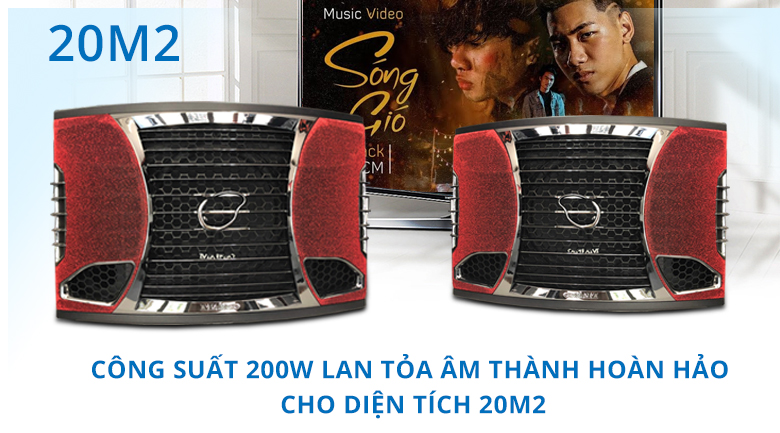 Loa Maingo LS-60V | Công suất 200W loan tỏa âm thanh hoàn hảo