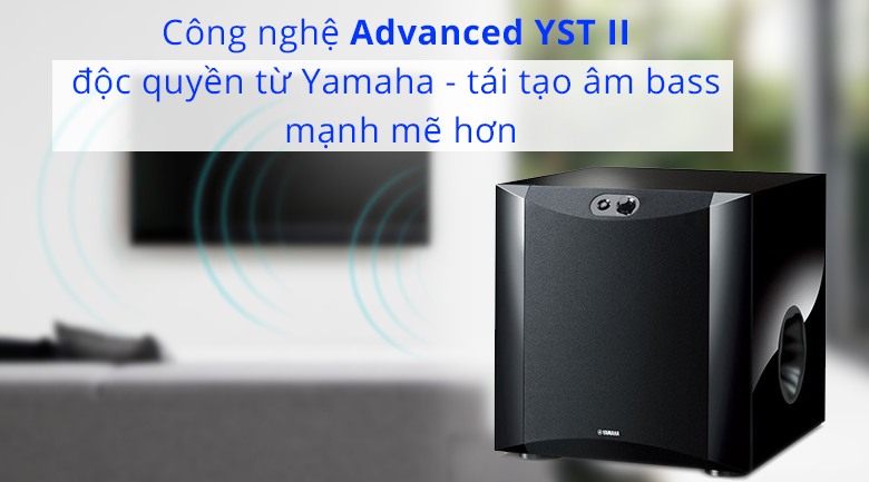 Loa sub điện Yamaha NS-SW200 piano | Công nghệ xử lý độc quyền tái tạo âm thanh mạnh mẽ