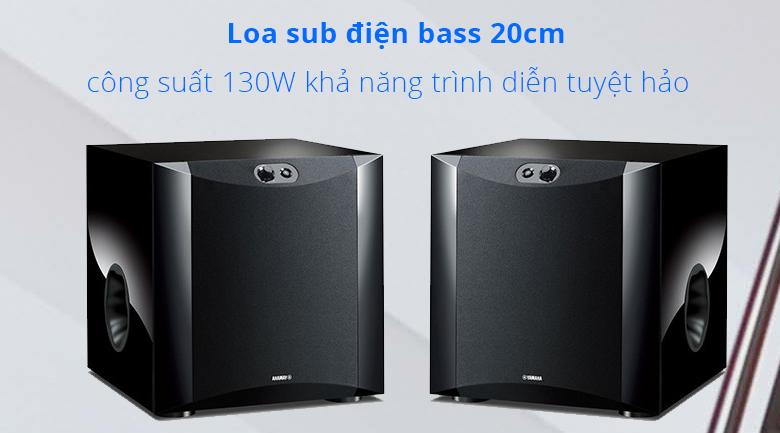 Loa sub điện Yamaha NS-SW200 piano | loa sub điện bass 20cm khả năng trình diễn tuyệt hảo