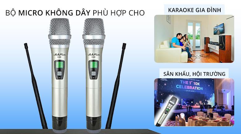 Micro AAP K500 | Micro không dây phù hợp cho không gian karaoke từ gia đình đến sân khấu lớn nhỏ