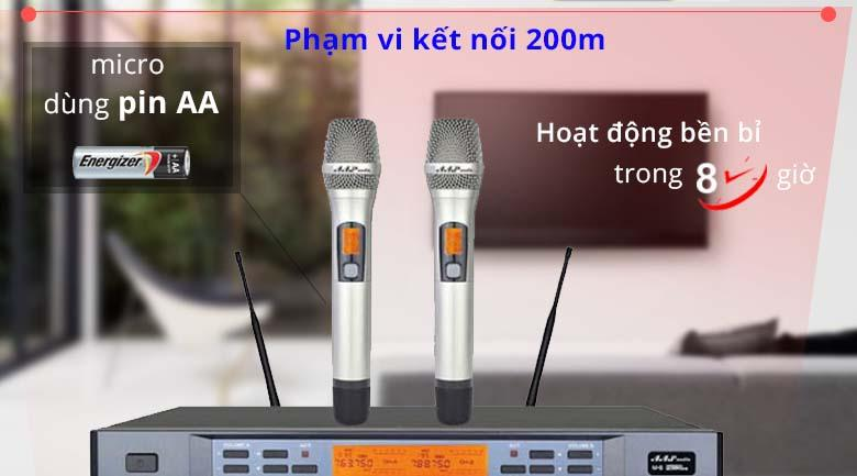 Micro AAP M8 | Phạm vi kết nối đến 200m