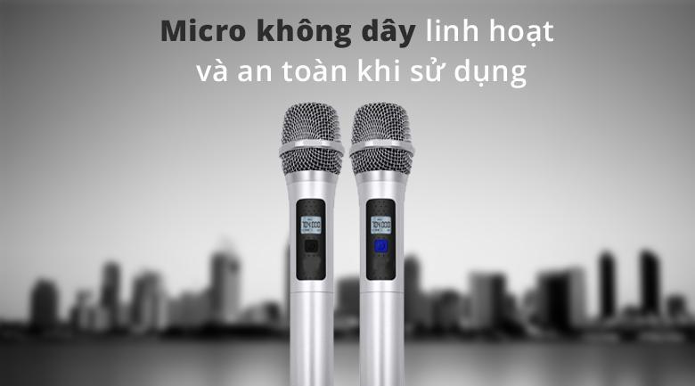 Micro krawamax KH999 | Micro không dây linh hoạt và an toàn khi sử dụng