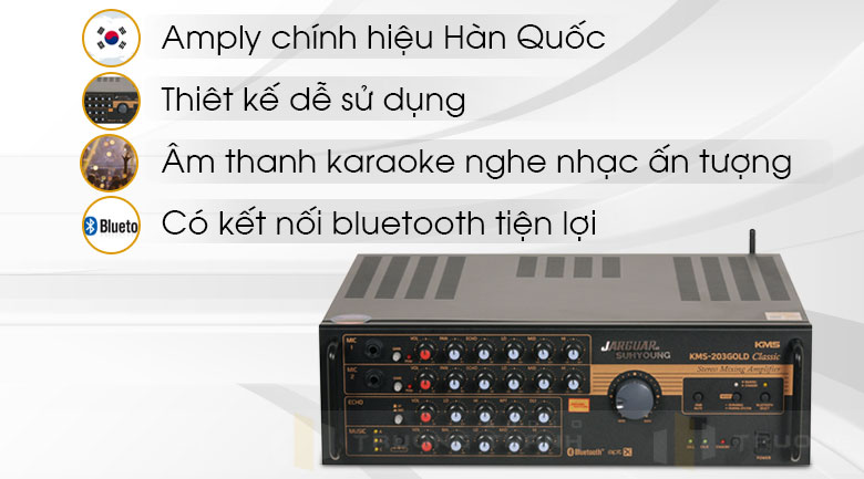 Amply Jarguar Suhyoung KMS-203 Gold Classic cho karaoke đỉnh cao