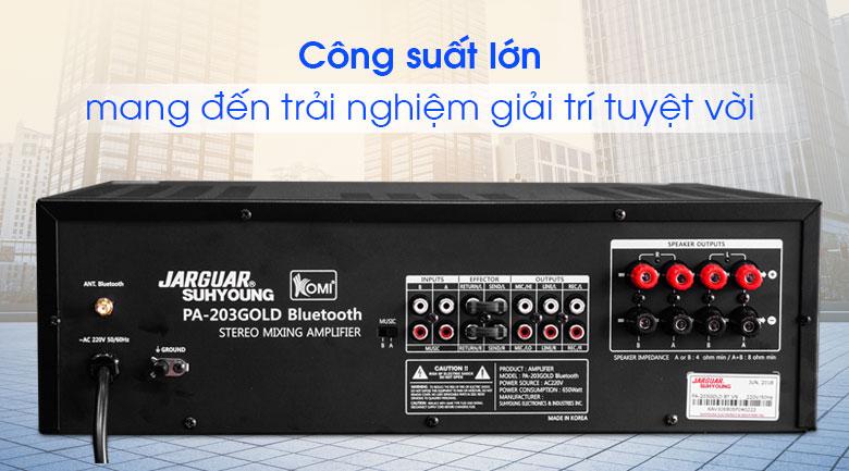 Amply karaoke Jarguar Suhyoung PA-203 Gold Bluetooth tính năng 4