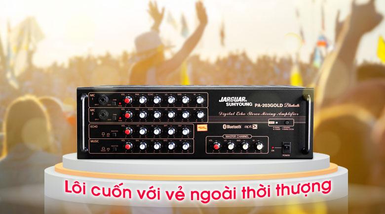 Amply karaoke Jarguar Suhyoung PA-203 Gold Bluetooth tính năng 3