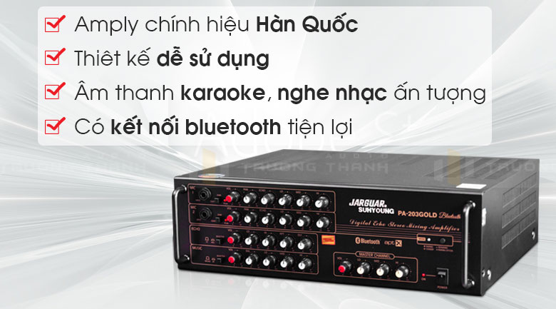 Amply karaoke Jarguar Suhyoung PA-203 Gold Bluetooth tính năng 1