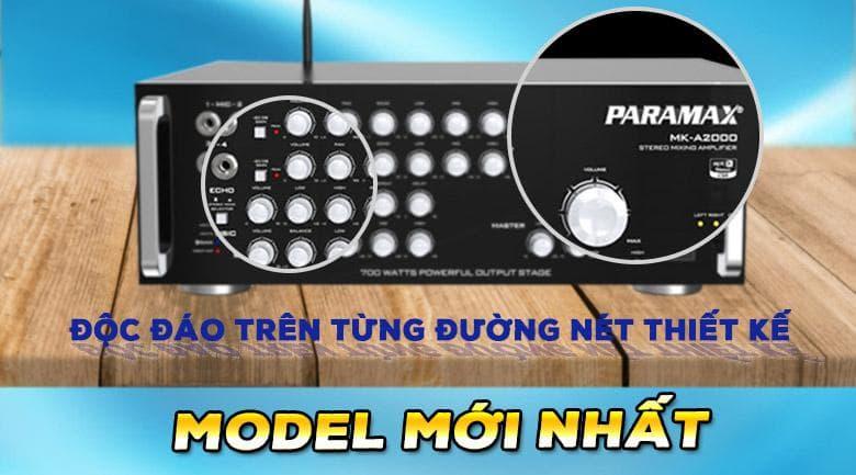 Amply Paramax MK A2000 | Thiết kế độc đáo, sang trọng