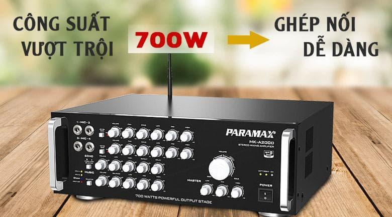 Amply Paramax MK A2000 | công suất nổi trội