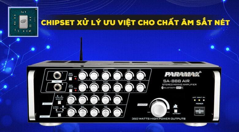Amply karaoke Paramax SA-888 Air new với linh kiện hiện đại