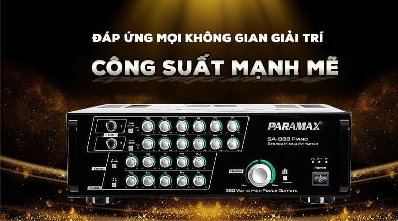 Amply Paramax SA-888 Piano New với công suất mạnh mẽ