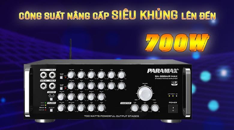Amply Paramax SA-999 Air Max với công suất lên đến 700w
