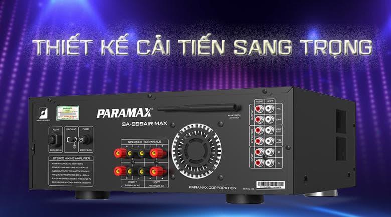 Amply Paramax SA-999 Air Max được thiết kế cải tiến sang trọng