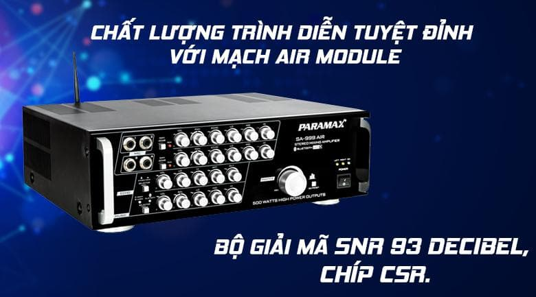 mạch AIR Module, bộ giải mã tín hiệu SNR 93 Decibel, dòng chíp CSR
