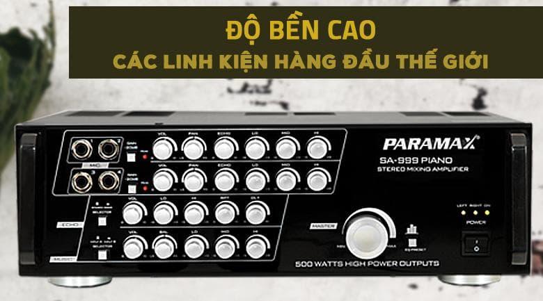 Amply karaoke Paramax SA - 999 Piano New có độ bền cao