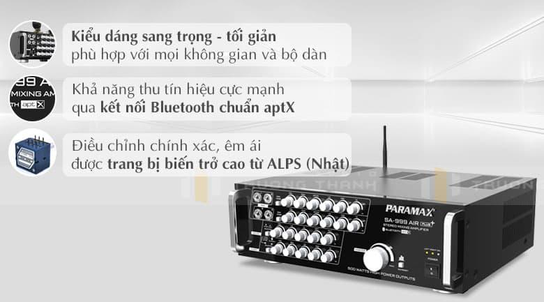 Amply Paramax SA-999 AIR Plus tính năng 1
