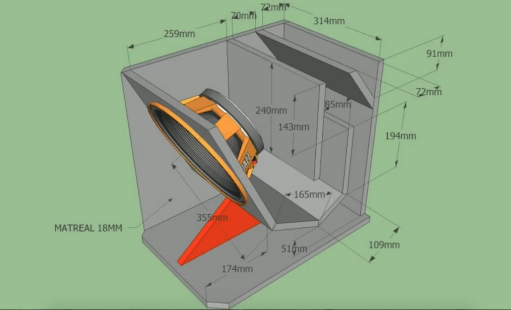 Bản vẽ thùng loa sub, loa toàn dải chuẩn nhất
