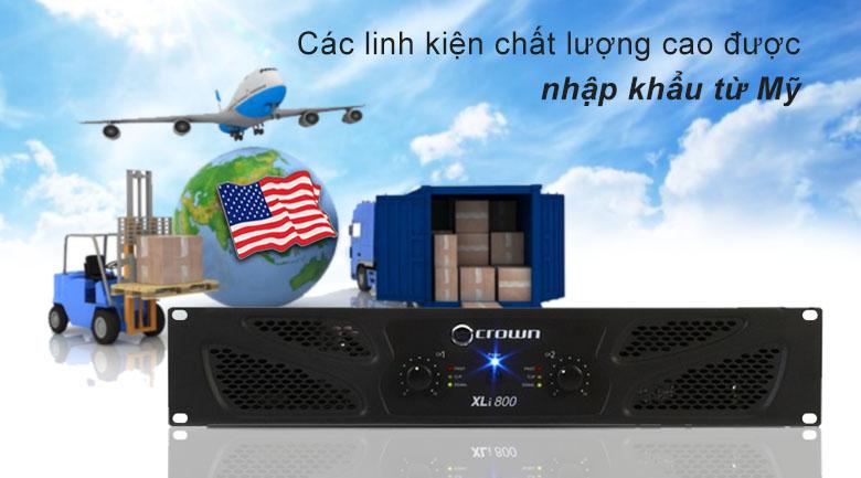 Cục đẩy Crown XLi800 | Linh kiện chất lượng cao được nhập khẩu từ Mỹ