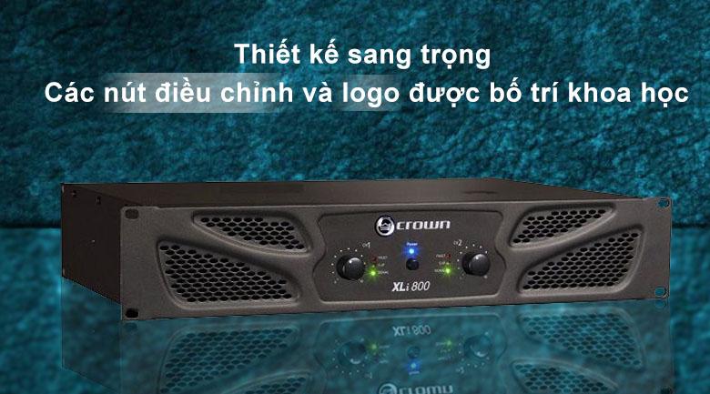 Cục đẩy Crown XLi800 | Thiết kế sang trọng với các nút điều chỉnh bố trí khoa học