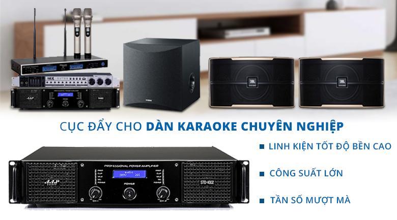 Cục đẩy AAP STD 4002 | Cục đẩy chuyên dụng cho dàn karaoke chuyên nghiệp