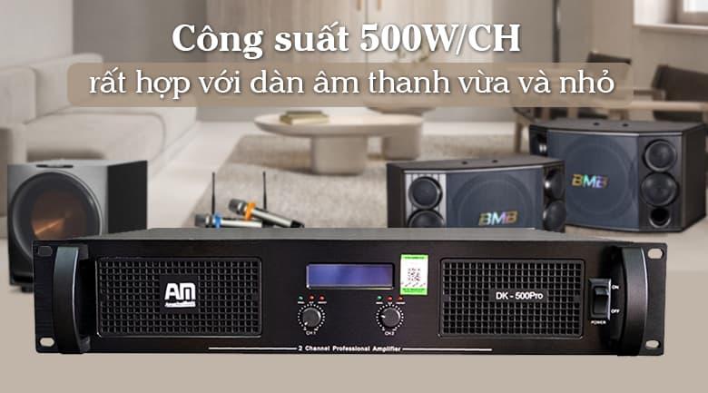 Cục đẩy AM DK500 Pro   Công suất 500W/CH