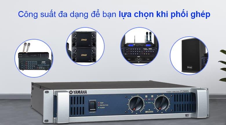 Cục đẩy Yamaha P2500S | Cống suất đa dạng để bạn lựa chọn khi phối ghép