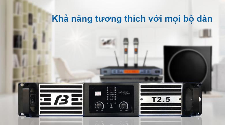 Cục đẩy BF Audio T2.5 | Khả năng tương thích với mọi bộ dàn