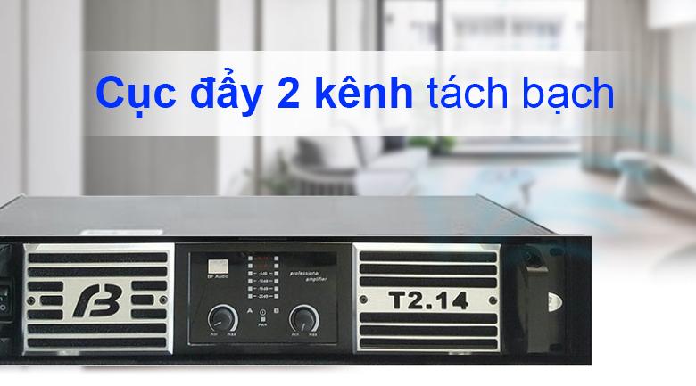 Cục đẩy công suất BF Audio T2.14 | Cục đẩy 2 kênh tách bạch