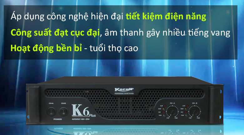 Cục đẩy Korah K6 Plus