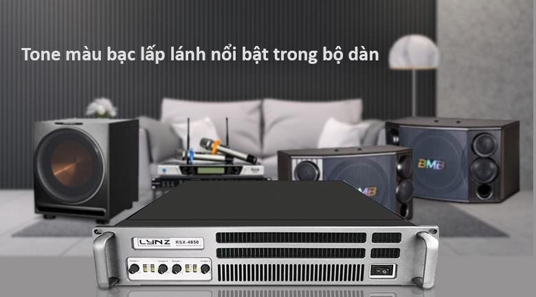 Cục đẩy LYNZ RSX 4850 | Tone bạc lấp lánh nổi bật trong bộ dàn