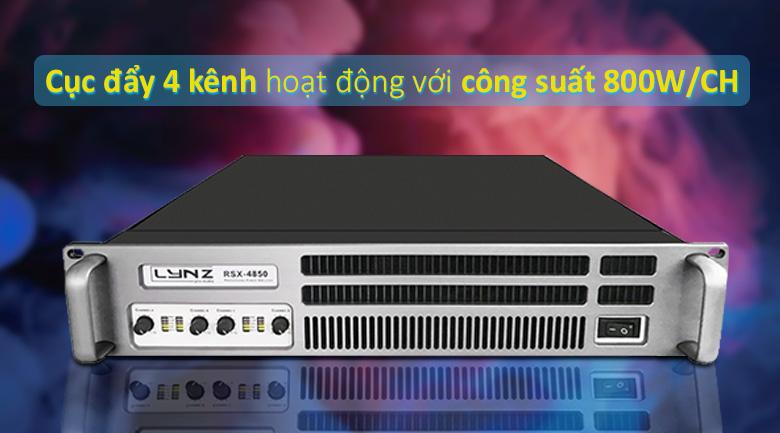 Cục đẩy LYNZ RSX 4850 | Cục đẩy 4 kênh công suất 800W/CH