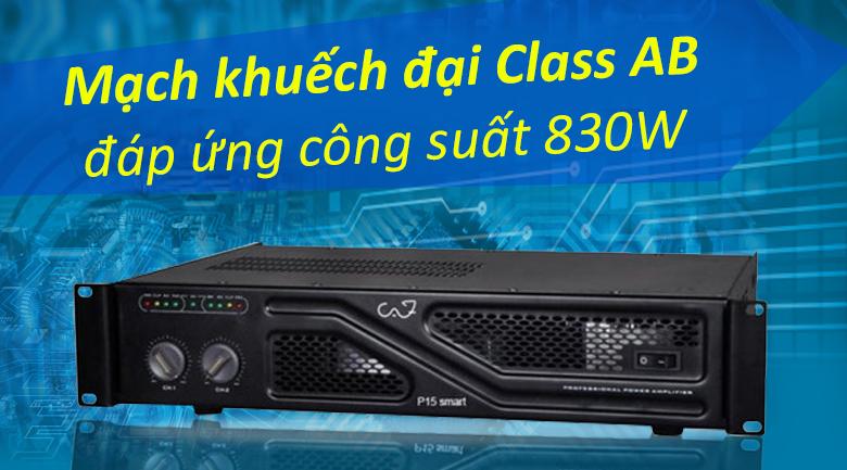 Cục đẩy CAF P15 Smart | Mạch khuếch đại Class AB