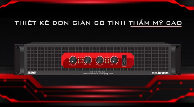 Cục đẩy Soundstandard GB4600 | Thiết kế đơn giản có tinh thầm thẩm mỹ cao