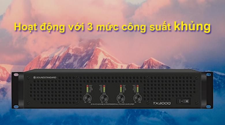 Cục đẩy SoundStandard TX300Q   Hoạt động với 3 mức công suất khủng
