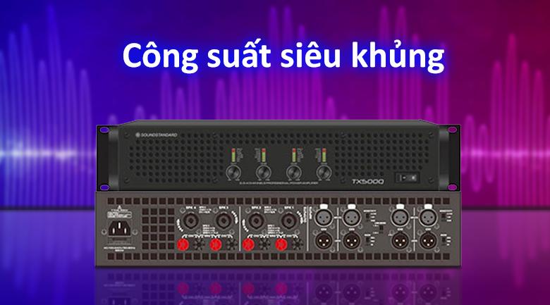 Cục đẩy SoundStandard TX500Q | Cống suất siêu khủng