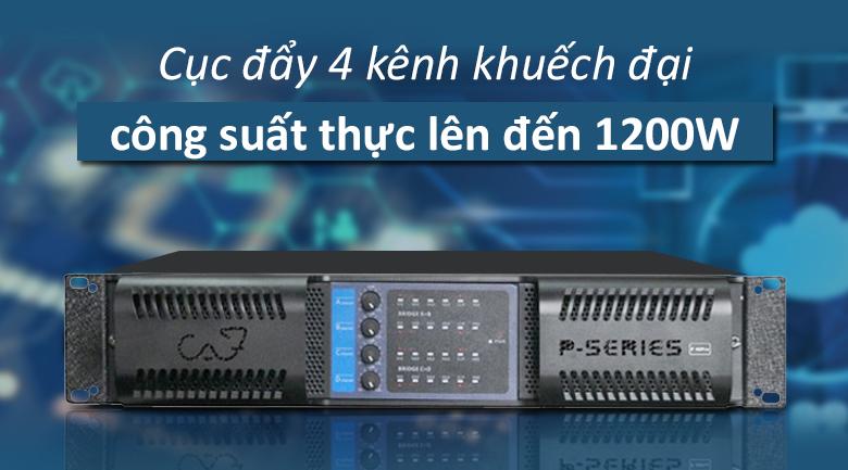 Cục đẩy CAF P48 Pro | Cục đẩy 4 kênh khuếch đại công suất lên đến 1200W