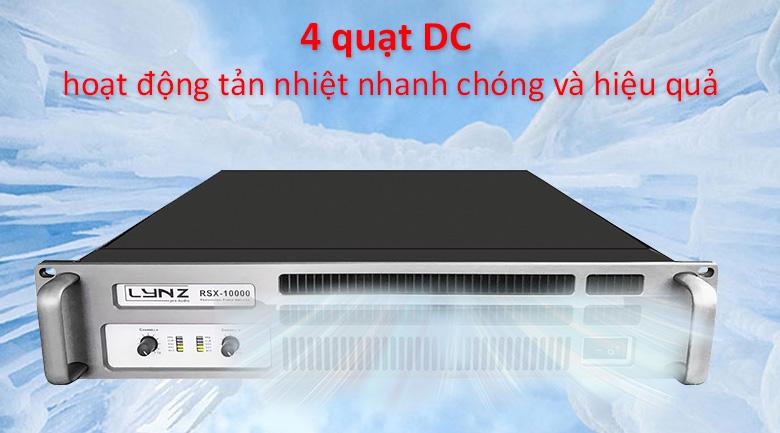 Cục đẩy LYNZ RSX-10000 | 4 quạt DC hoạt động tản nhiệt nhanh chóng và hiệu quả