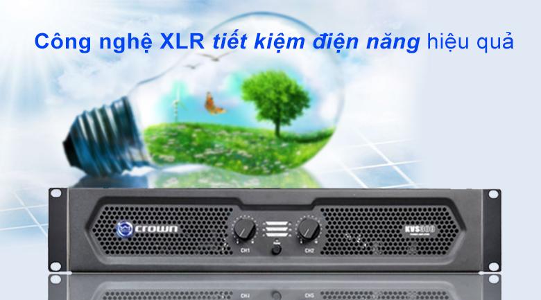 Cục đẩy Crown KVS300 | Công nghệ XLR tiết kiệm điện năng hiệu quả