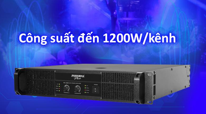 Cục đẩy Paramax MA220 | Công suất đến 1200W/kênh
