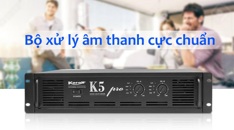 Cục đẩy công suất Korah K5 Pro   Xử lí âm thanh chuẩn