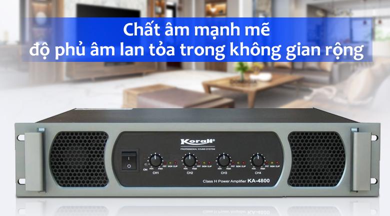 Cục đẩy KORAH KA4800   Chất âm mạnh mẽ
