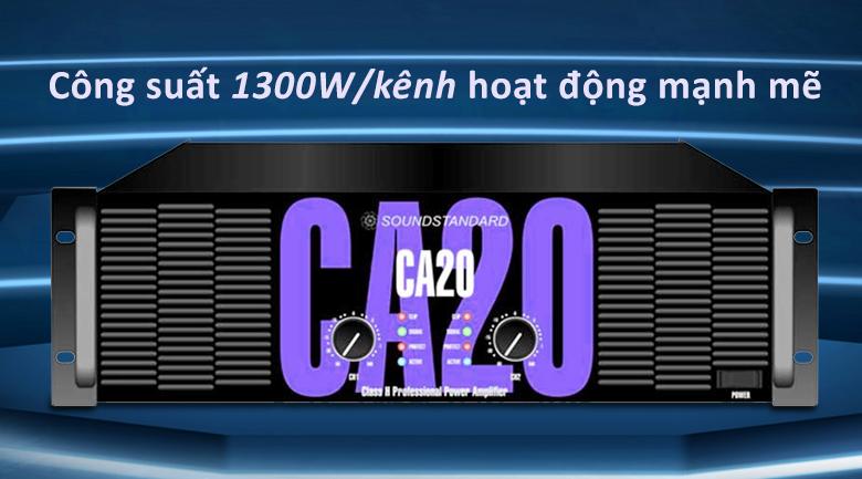 Cục đẩy Soundstandard CA20 | Công suất hoạt động mạnh mẽ