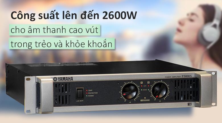 Cục đẩy Yamaha P5000S   Cống suất 2600W