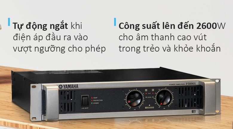 Cục đẩy Yamaha P5000S   Thiết kế cá tính