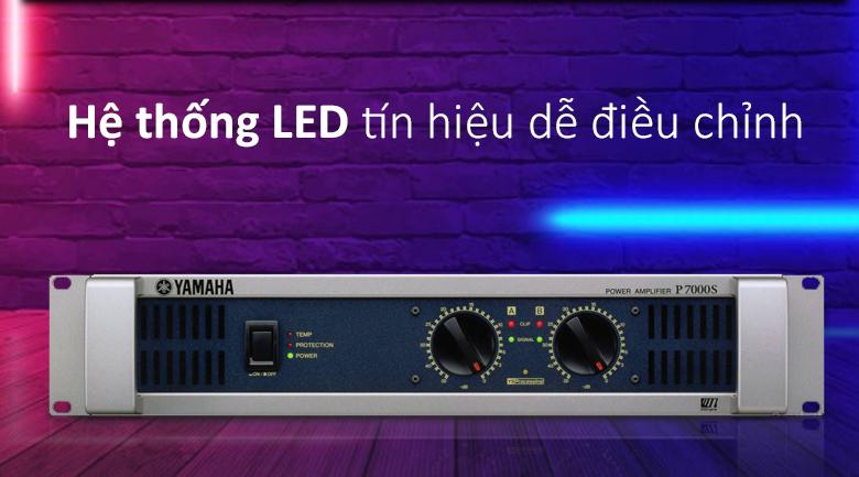 Cục đẩy Yamaha P7000S | Hệ thống LED tín hiệu dễ điều chỉnh