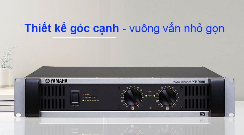 Cục đẩy Yamaha XP7000S | Thiết kế góc cạnh vuông vắn nhỏ gọn